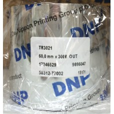 DNP TR3020  Wax Transparent  60MM X 360M, 17321438