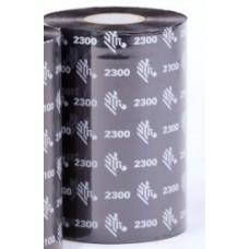 Zebra 2300 Standart Wax Flat Head 60MM X 450M, 02300BK06045
