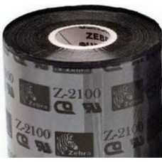Zebra 2100 High Performance Wax Flat Head 40MM X 450M, 02100BK04045